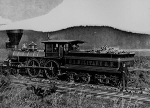 typical railroad engine of the period