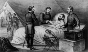 Jackson on his deathbed