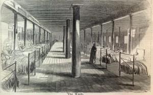 typical ward of a Civil War hospital