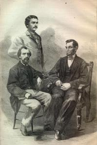 Lincoln & his two secretaries
