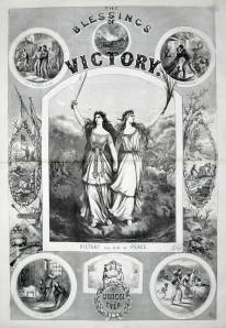 pro-Lincoln poster by Thomas Nast calling for peace through victory